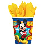 Amscan Disney Mickey Mouse Clubhouse Paper Cups Party Supplies , Multicolor, 48 Pieces