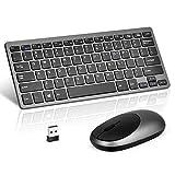 Loreran Ultra-Thin 2.4G Wireless Keyboard and Mouse Combo Chiclet Keyboard with Scissor Mechanism
