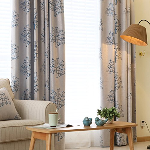Melodieux Jacquard Blackout Grommet Curtains