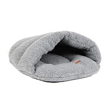 Glield Suave y Transpirable Calentar Cama para Perros y Gato PTW04 (Gris, M (