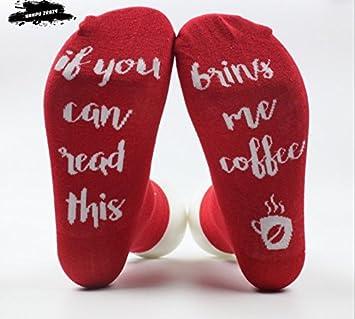 VIG Calcetines 3 Pares Interesante Navidad Calcetines, Si lo Lectura de Calcetines Hombres y Mujeres Casual Calcetines, Rojo: Amazon.es: Deportes y aire ...