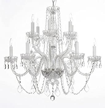 Chandelier Lighting Crystal Chandeliers H27 X W32