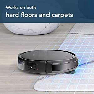 Ecovacs Deebot 500 Robots Vacuum Cleaner Robotic Smart APP Control Max Mode Suction Power 3-Stage Cleaning System Compatible with Alexa