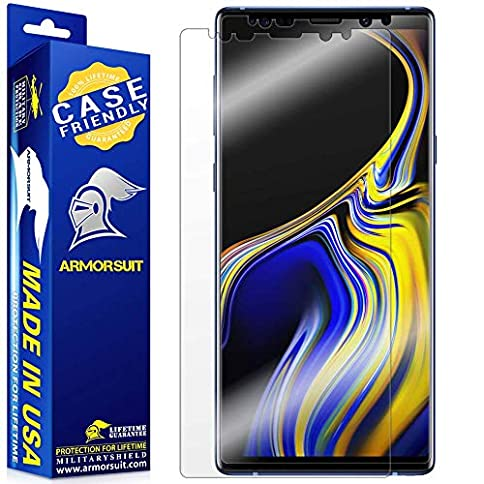 - 51PMeNqc eL - [2 Pack] ArmorSuit MilitaryShield [Case Friendly] Screen Protector for Samsung Galaxy Note 9 – Anti-Bubble HD Clear Film