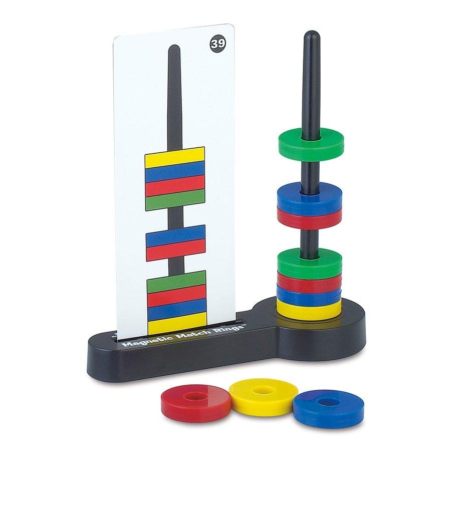 Popular Playthings Jeu de logique Magnetic Match Rings 351