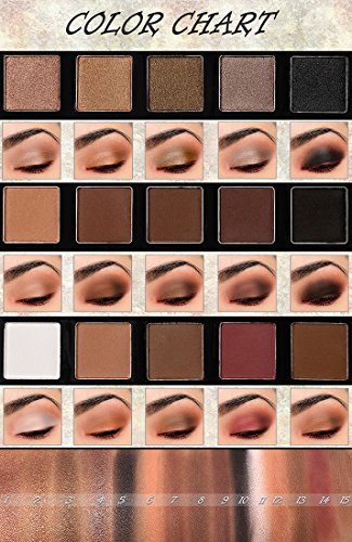 UCANBE Matte & Shimmer 15 Color Highly Pigmented Long Lasting Warm Neutral Eye Shadow Palette- Pro Neutral Eyeshadow Palette with 6pcs Eye Makeup Brush Set
