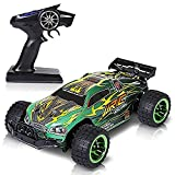 Nianle Super Fast RC Toy Cars 2.4GHz 4WD Remote Control Off Road Monster Racing Car RC Hobby Truck High Speed Radio Controlled Electric Truggy Cars Green