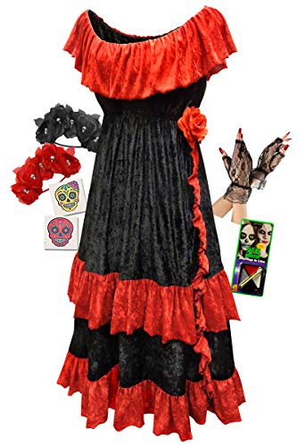 Dia de los Muertos Plus Size Halloween Costume Basic Kit 1x