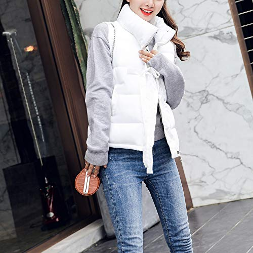 Collar Zipper Solid Outerwear Full Plus Padded Gilet Turtle Lace Pockets Autumn Jacket Warm with Sleeveless Casual Winter Womens Waistcoat Loose White Girls Cotton Size MIRRAY Thick wYTqvUYO
