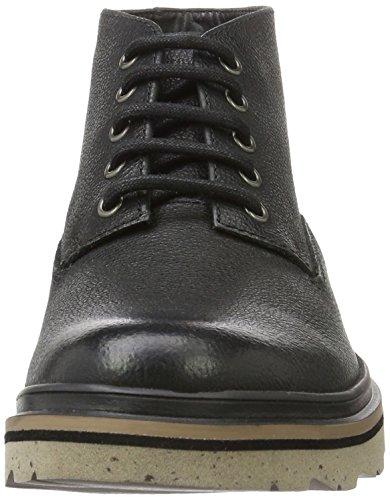 Clarks Frelan Hike, Botines para Hombre Negro (Black Leather)