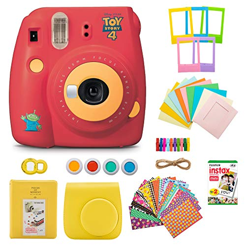 Fujifilm INSTAX Mini 9 Instant Camera (Toy Story) with Twin Instant Film Pack (20 Shots) and 7-1 Accessory Gift Bundle (3 Items)