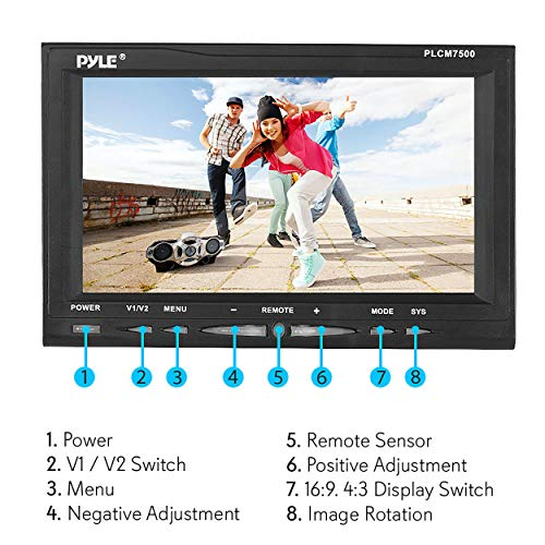 Surprising Rear View Backup Car Camera Screen Monitor System W Parking And Reverse Assist Safety Distance Scale Lines Waterproof Night Vision 7 Lcd Video Wiring Cloud Hisonuggs Outletorg