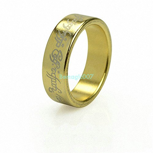 Magic Accessories Golden-Engraved Wizard PK Ring Magnetic Ring (Available at 18,19,20mm)