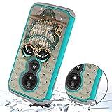 Berry Accessory Moto E5 Play Case,Moto E5 Cruise Luxury Glitter Sparkle Bling Case,Studded Rhinestone Crystal Hybrid Dual Layer Armor Case for Motorola E Play (5th Generation) Cute Owl