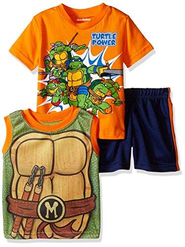 UPC 024054430811, Teenage Mutant Ninja Turtles Baby Boys' 3pc Top and Short Set, Orange, 24 Months