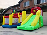 SAG Collection Inflatable Bouncy Slide Bounce House 6 in 1 with Slide Basket