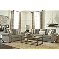Signature Design by Ashley 4760039 Baveria Sofa Sleeper, Queen, Fog