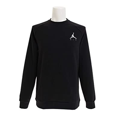 NIKE SPORTSWEAR Crew Air Fleece Sweatshirt for Men Black