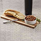 Heart of America 2 Piece Set Bamboo Cheese Board with Spreader