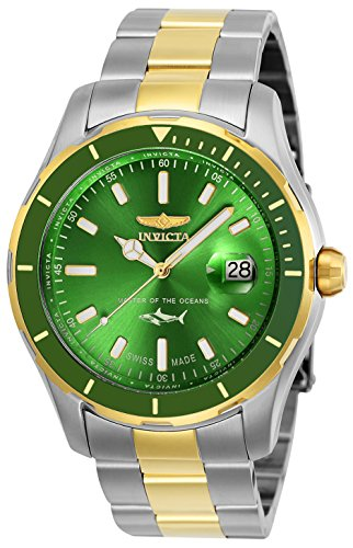 Invicta Men's 'Pro Diver' Quartz Stainless Steel Casual Watch, Color:Two Tone (Model: 25816)