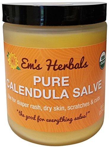 Em's Herbals Pure Calendula Salve, 8 oz.