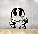 USA Decals4You | Movie Film Wall Decals Funny Star Wars Stormtroopers Draw Graffiti Stickers Vinyl Murals MK1920