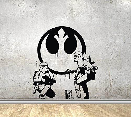 Draw Decals (USA Decals4You | Movie Film Wall Decals Funny Star Wars Stormtroopers Draw Graffiti Stickers Vinyl Murals MK1920)