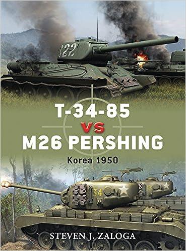 t 34 85 vs m26 pershing korea 1950 duel