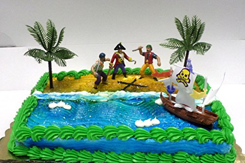 Cakesupplyshop Cjp998 Pirate Ship Pirate Revenge Cake Decoration Cake Topper
