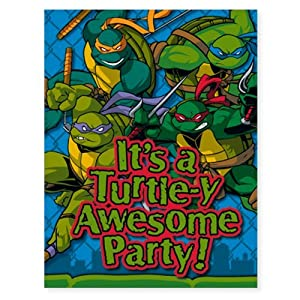 Amazoncom TMNT Teenage Mutant Ninja Turtles Party Invitations 8