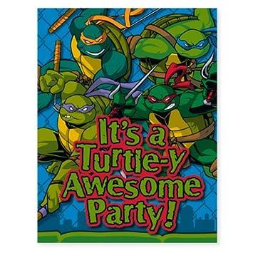 Amazoncom TMNT Teenage Mutant Ninja Turtles Party Invitations 8