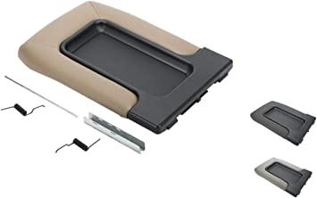 Gray Console Armrest Lid Cover Suture Box for Avalanche Silverado Tahoe GMC Sierra Yukon XL