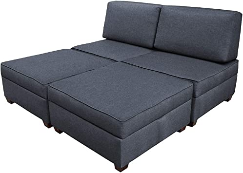 Amazon Com Duobed Sofa Bed King Size Blue Kitchen Dining