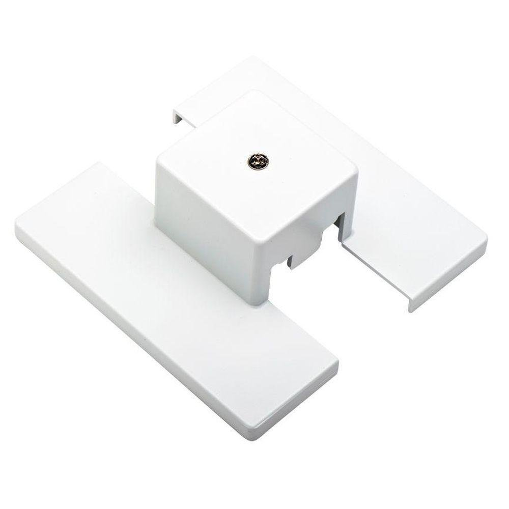 Kendal Lighting TA001-WH   Designers Choice Track Lighting Floating Canopy Power Feed, White Finish