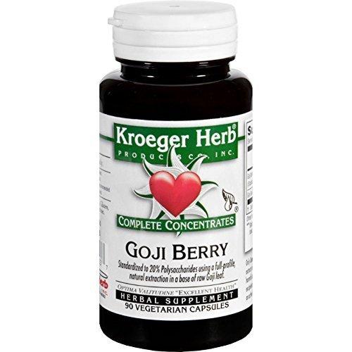 Kroeger Herb Complete Concentrate Goji Berry 90 Vegetarian Capsules by Kroeger Herb