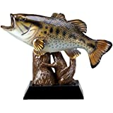 Customizable 7-3/4 Inch Full Color Bass Fish Trophy, Includes Personalization