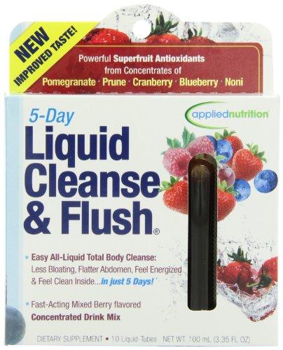 Applied Nutrition 5-Day Cleanse & liquide de rinçage, à action rapide mixte Berry total Body Cleanse, 10 Twist Tubes Box, 100ml (3.35Floz)