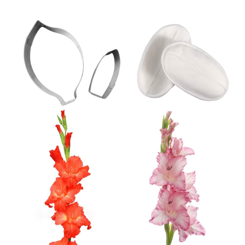 AK ART KITCHENWARE Floral Veining Molds and Fondant Cutters Gumpaste Daffodil Making Tools Set for Decorating Cakes