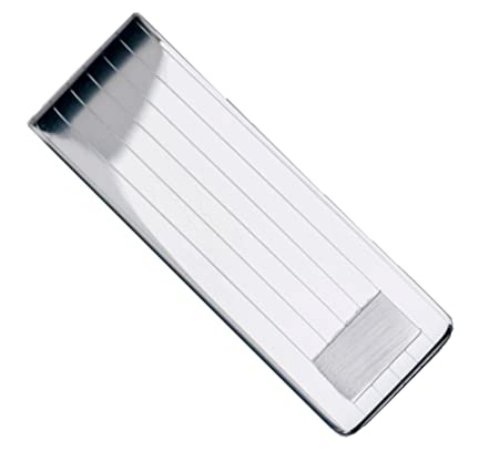 9c97fe9cb8cb Sterling Manufacturers Sterling Silver .925 Solid Striped Design Engravable Money  Clip.