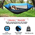 Trekassy Camping Hammock with Removeable Mosquito/Bug Net, Rain Fly Cover, Tree Straps and Carabiners