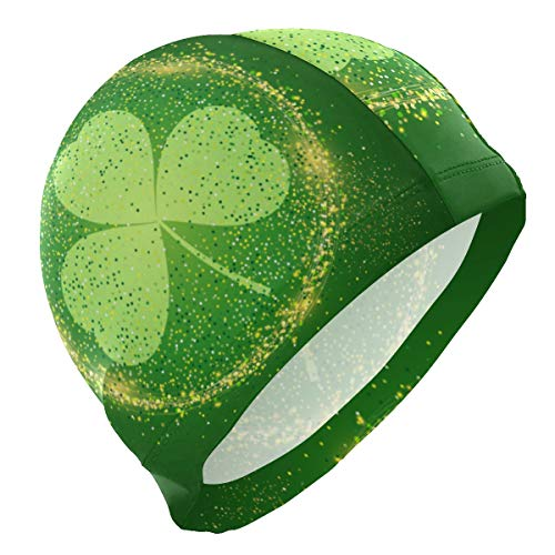 PNGLLD Swimming Cap St. Patrick's Day Shamrock Swim Cap for Men Boy Adult Youth Teen Swimming Hat No-Slip