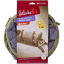 """Petlinks System Twinkle Chute Cat Tunnel, 33"""" L X 9.5"""" W X 9.5"""" H - Colors May Vary"""