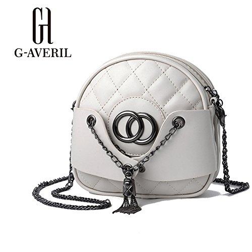 G-AVERIL - Bolso de asas para hombre rosa rosa blanco