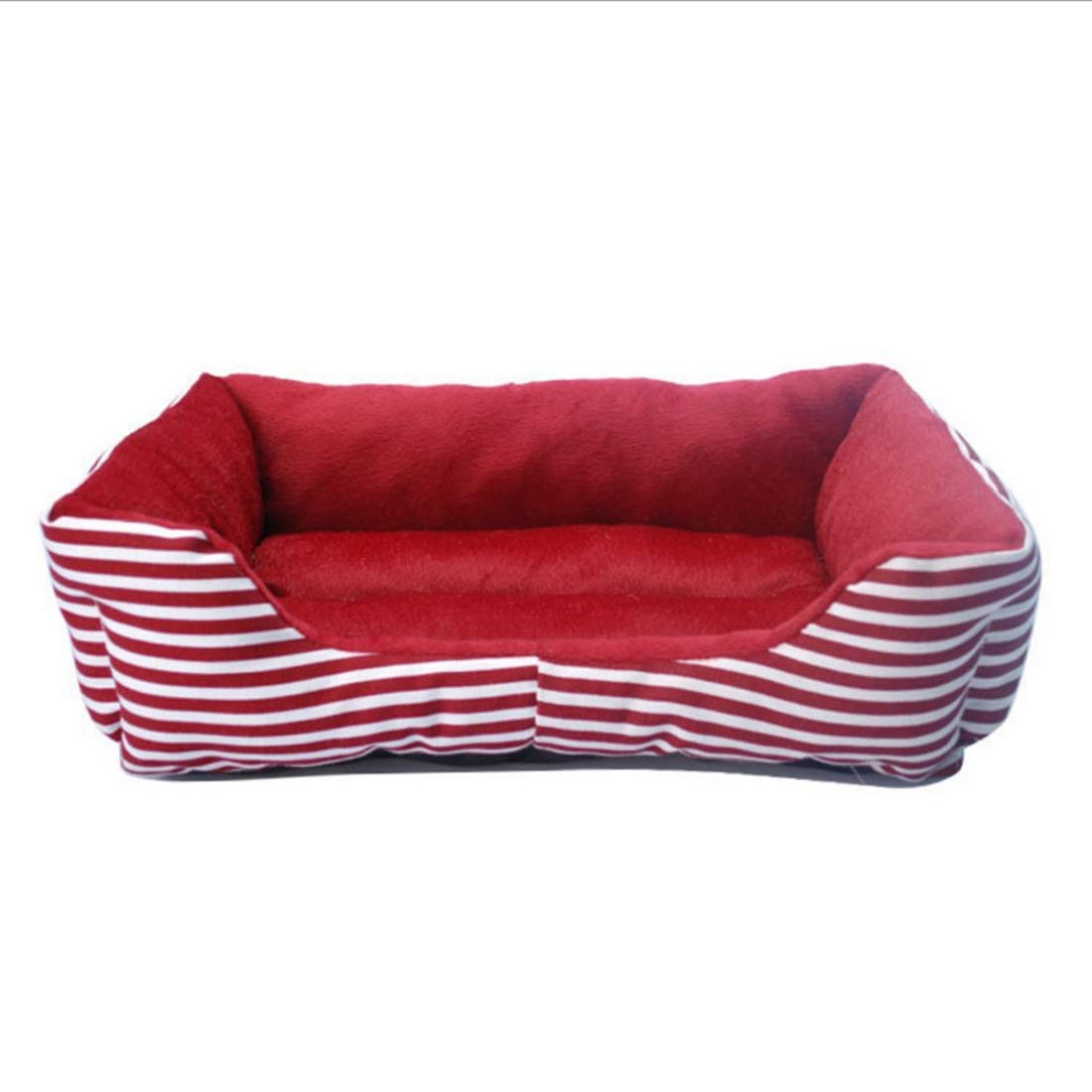 Red L Red L RABILTY Retro Square Pet Kennel Luxury Pet Sofa Cat Kennel Dog Bed (color   Red, Size   L)