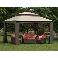 Jensen Antigua Wicker and Aluminum Gazebo