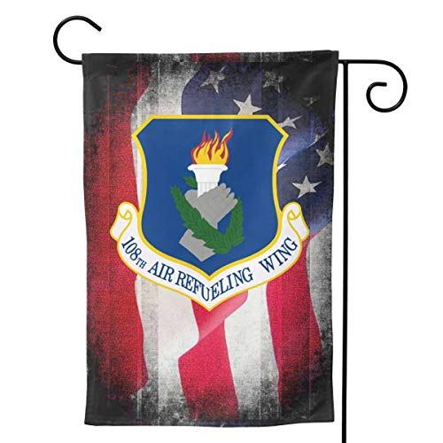 Ellive Air Force 108th Air Refueling Wing 12 X 18 Inch Outdoor Yard Flags, Decorative House Yard Flag, Polyester, Durable