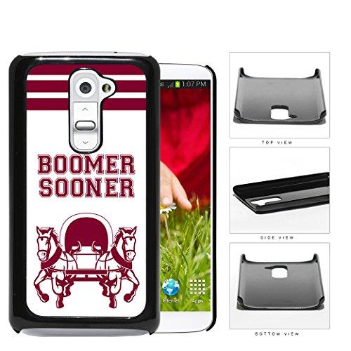 Team Mascot Button - Boomer Sooner School Spirit Slogan Chant LG G2 Hard Snap on Plastic Cell Phone Cover