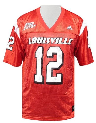 - Louisville Cardinals Men's Home College Replica Football Jersey By Adidas (M=40)