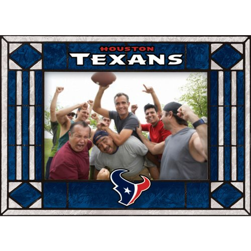 Houston Texans Art Glass Horizontal Frame
