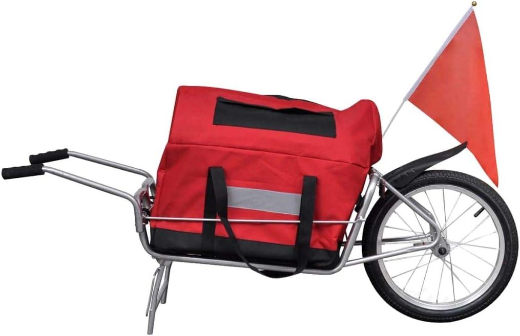Amazon.es: vidaXL Remolque de Bicicleta con Bolsa de ...